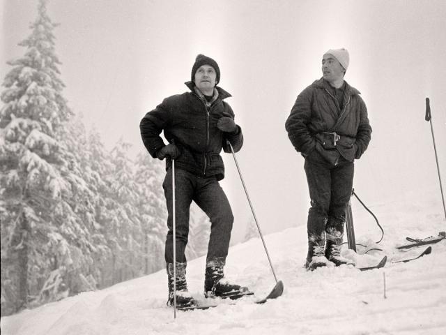 Władysław Biskup (z prawej strony) na Śnieżniku, 1969 r. fot. Tadeusz Jażdżewski